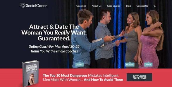 Screenshot of the SocialCoach website