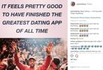 Screenshot of Yeezy.dating's Instagram post