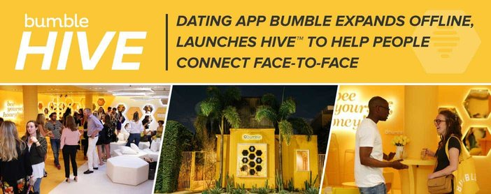 Bumble Launches Hive To Help People Connect Face To Face