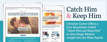 Christian Carter Offers a Free Newsletter to Help Single Women Understand Men