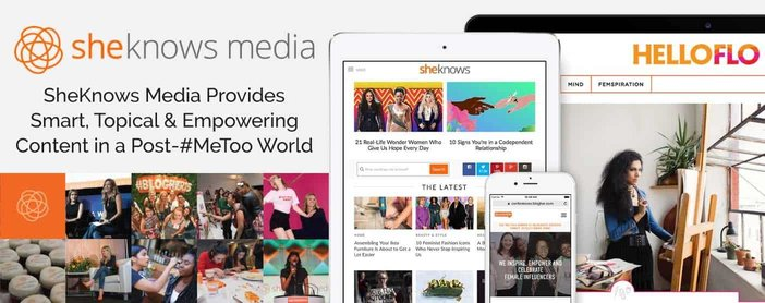Sheknows Media Provides Smart And Empowering Content In A Post Me Too World