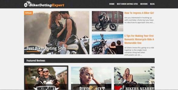 Screenshot of BikerDatingExpert's homepage