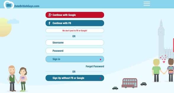 Screenshot of DateBritishGuys.com