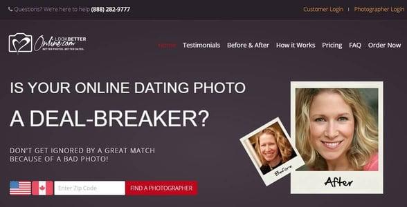 Screenshot of LookBetterOnline's homepage