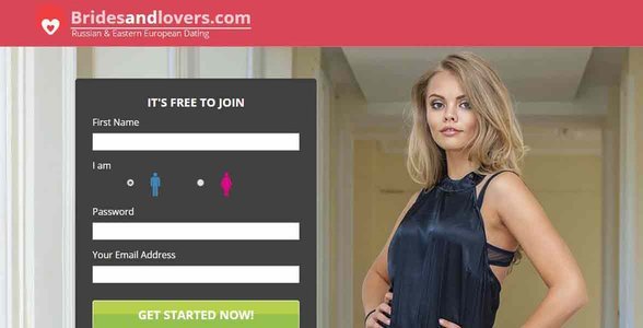 Screenshot of BridesAndLovers.com