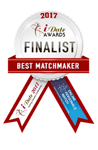 The iDate Awards finalist badge for Best Matchmaker