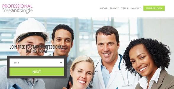 Screenshot of ProfessionalFreeAndSingle.com