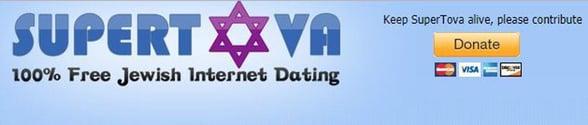 Screenshot of SuperTova's logo and donate button