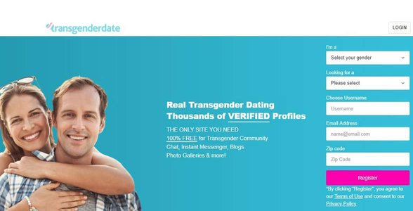 Screenshot of TransgenderDate.com