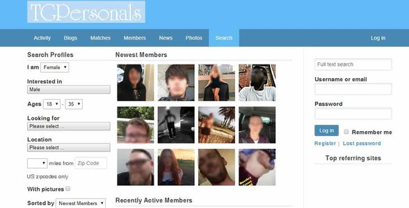 Screenshot of TG Personals