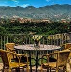 Photo of the view at the Tuscany villa