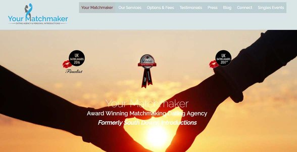 Screenshot of Your Matchmaker's website
