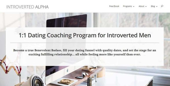 Screenshot of Introverted Alpha's website