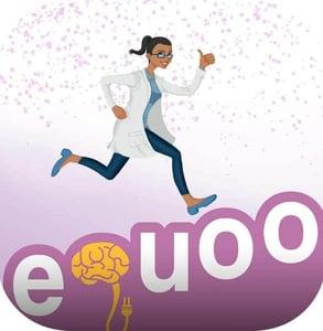 eQuoo's logo and Joy the avatar