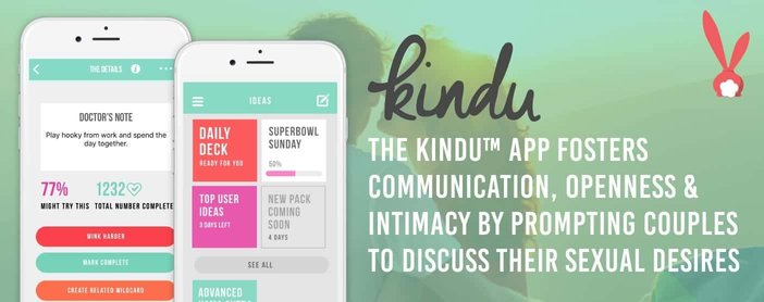 The Kindu™ App Fosters Communication, Openness & Intimacy by Prompting Couples to Discuss Their Sexual Desires