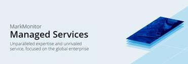 Screenshot of MarkMonitor Managed Services portal