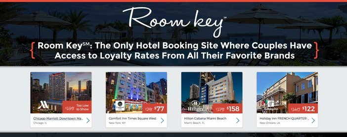 Room Key Only Hotel Booking Site Where Couples Have Access To Loyalty Rates From Favorite Brands