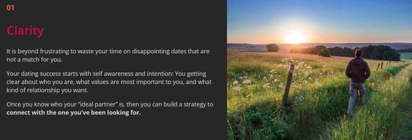 Screenshot from Growing Self's website