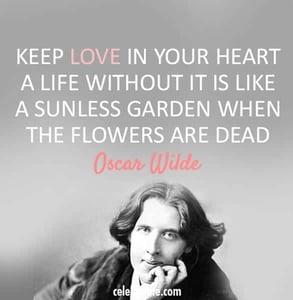 An Oscar Wilde quote