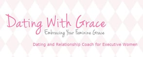 Screenshot of the Dating With Grace logo and a banner