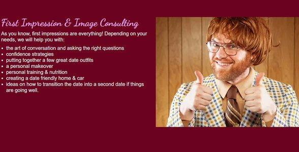 Screenshot of Kristi's image consulting services