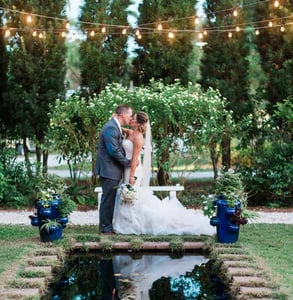 Photo of a wedding in the Moonlight Garden