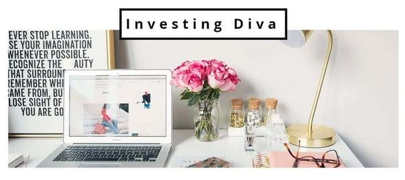 Screenshot of Investing Diva homepage