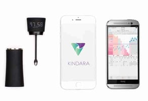 Photo of the Kindara app and Wink product