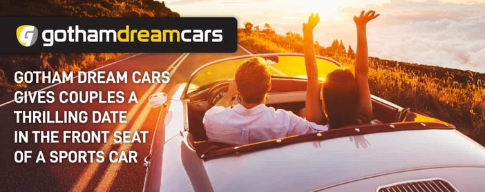 Gotham Dream Cars: A High-End Rental Company That Can Give Couples a Thrilling Date in the Front Seat of a Sports Car