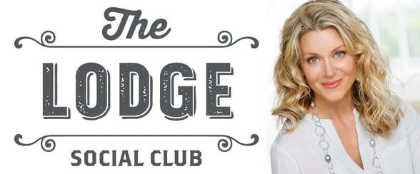 The Lodge Social Club logo and Founder Kailen Rosenberg