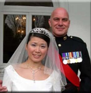 Photo of Craig and Tomoko, who met on TMA