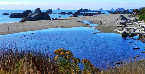 Photo of sea stacks near Brookings, Oregon