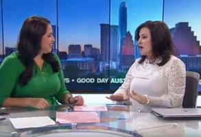 "Photo of Julia on ""Good Day Austin"""