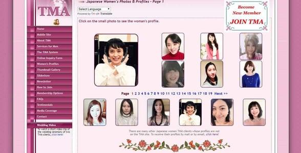 Screenshot of TMA profiles