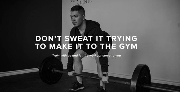 Screenshot from the Your House Fitness website