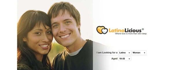 Screenshot of the LatinoLicious homepage