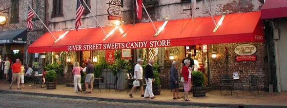Photo of a River Street Sweets candy shop