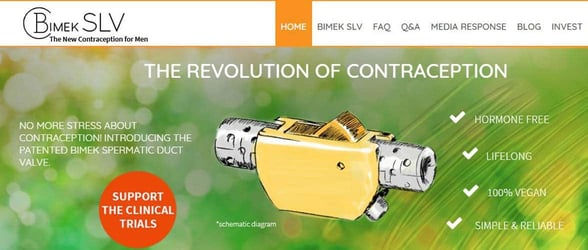 Screenshot from the Bimek website