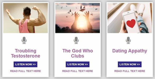 Screenshot of Mating Matters podcasts
