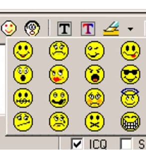 Photo of AIM emoticons