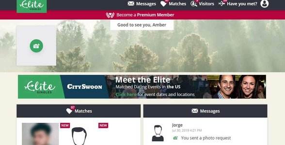 Screenshot of EliteSingles