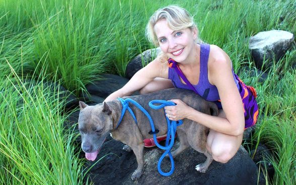 Photo of Rescue Chocolate Founder Sarah Feoli and Mocha