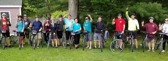 Photo of Thermacell team members on bikes