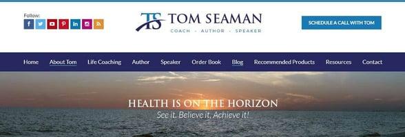 Screenshot from Tom Seaman's website