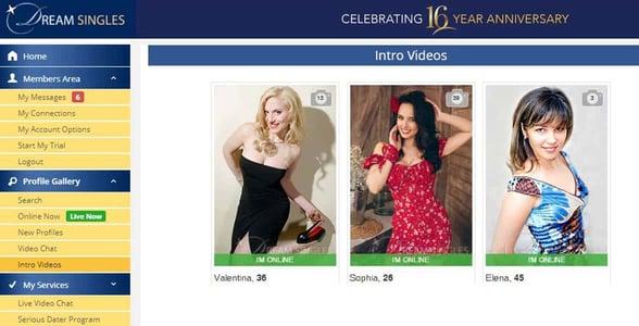 Screenshot of Dream-Singles.com