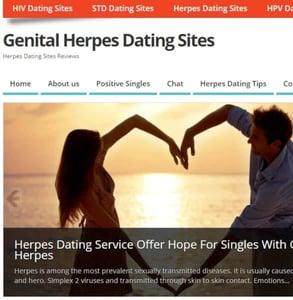 Screenshot of GenitalHerpesDatingSites.info