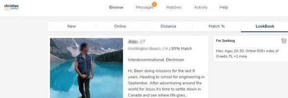 Screenshot of the LookBook