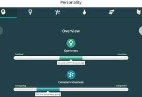 Screenshot of a SilverSingles profile
