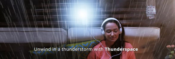 Screenshot of Thunderspace banner