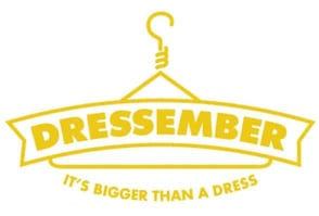 The Dressember logo